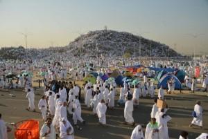 Jemaah Haji sedang wukuf di Arafah