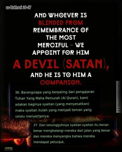 Surah zukhruf 36 -37-picsay