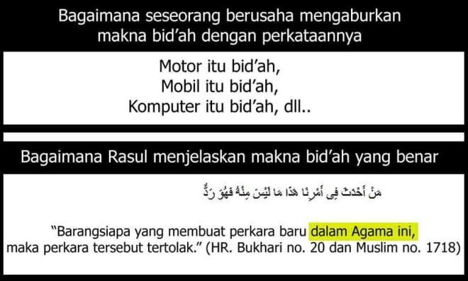 bid'ah hanya dlm hal agama