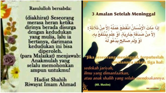 doa anak kepada ibu bapa meninggal dunia